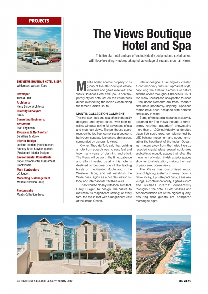 Architect and Builder Article - 1